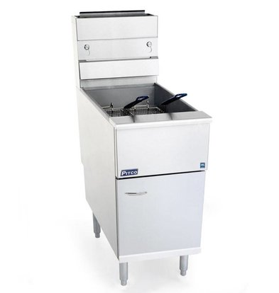 Pitco Fryer Gas Milivolt | Pitco Solstice SG14S | 32kW | Oil 23kg | 60kg / h | 397x864x864 (h) mm