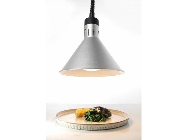 Hendi Aluminium Heat Lampe Kegelförmig | Silberne Farbe 250W / 230V | Einstellbar Ø175x (H) 250mm