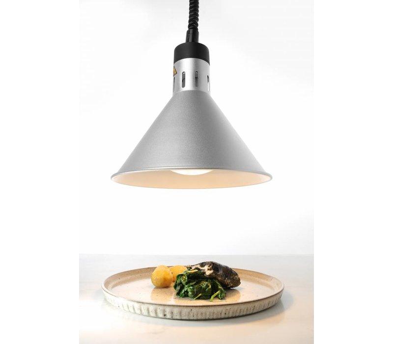 Hendi AluminiumWarmte Lamp | Kegelvormig | Zilver Kleur | 250W/230V | Verstelbaar | Ø175x(H)250mm