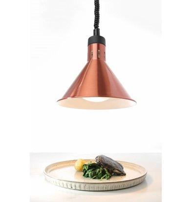 Hendi AluminiumWarmte Lamp | Kegelvormig | Koper Kleur | 250W/230V | Verstelbaar | Ø175x(H)250mm
