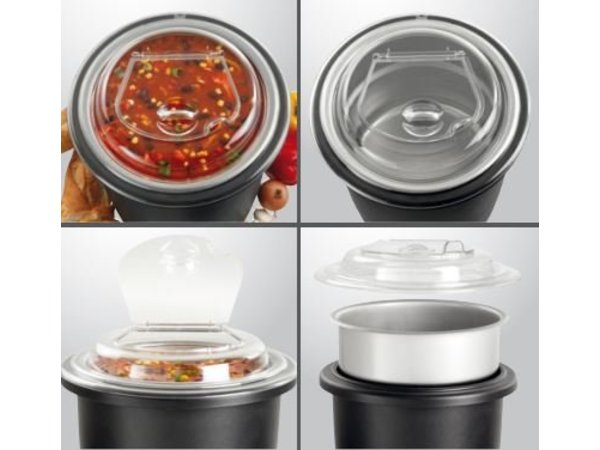 Bartscher Elektrische Soeppan 10 Liter - Deksel Transparant