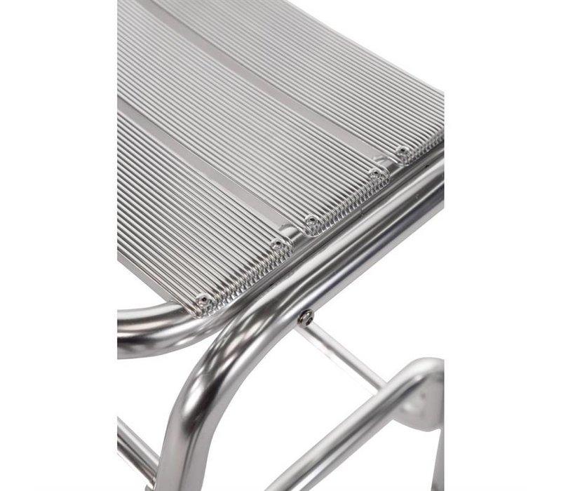 Bolero Bistro Bar Stool Aluminium mit Rückenlehne - Preis für 4 Stück