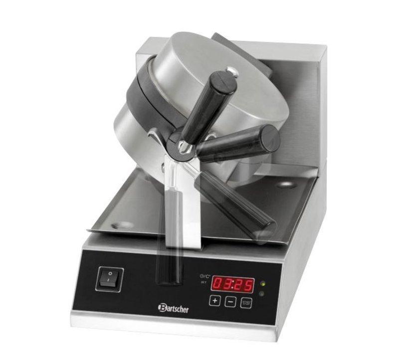 Bartscher Wafelijzer Deluxe - Rond Model en Draaibaar - met Gietijzeren Bakplaat - 250x495x(h)385mm - 1KW