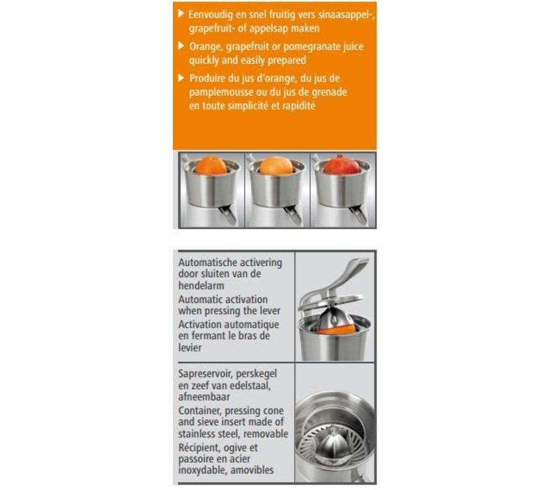 Bartscher Elektrische Citruspers CS1 - Gegoten Aluminium - 230W / 230V - 287x212x(H)396mm