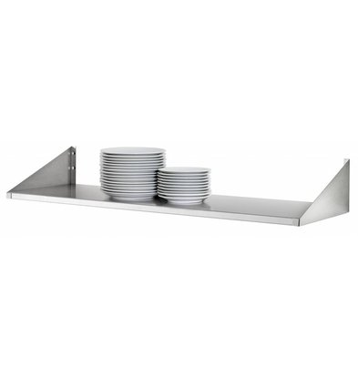Bartscher Stainless steel plates shelf - 200mm Deep - CHOICE OF 4 SIZES