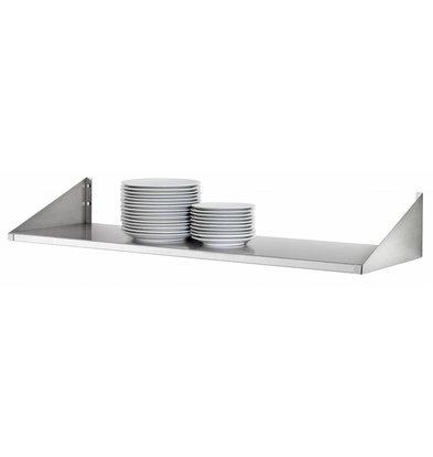 Bartscher Stainless steel plates shelf - 300mm Deep - CHOICE OF 4 SIZES