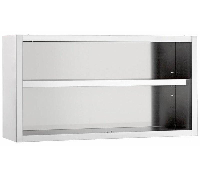 Bartscher Hangkast RVS | Open Model met 1 Verstelbaar Tussenschap | 1000x400x60(h)mm | KEUZE UIT 6 BREEDTES