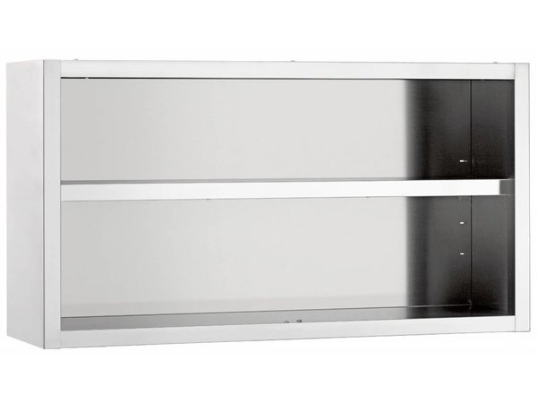 Diamond Hangkast RVS | Open Model | 1 Verstelbaar Tussenschap | 600x400x600(h)mm | KEUZE UIT 4 BREEDTES