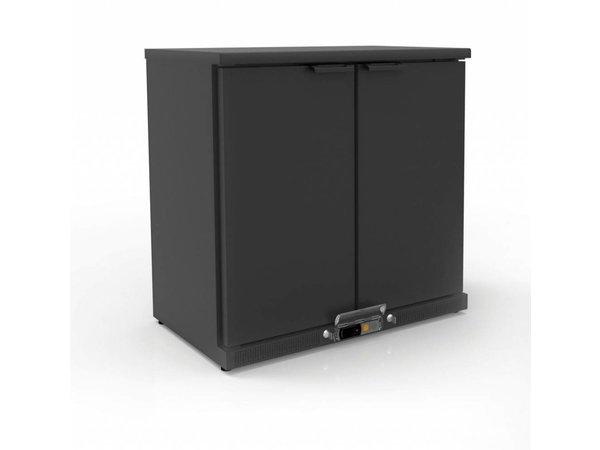 Coreco Barkoelkast 2 Deurs Zwart | 2 Verstelbare Etages | 200 Liter | 92,5x52x(H)90cm