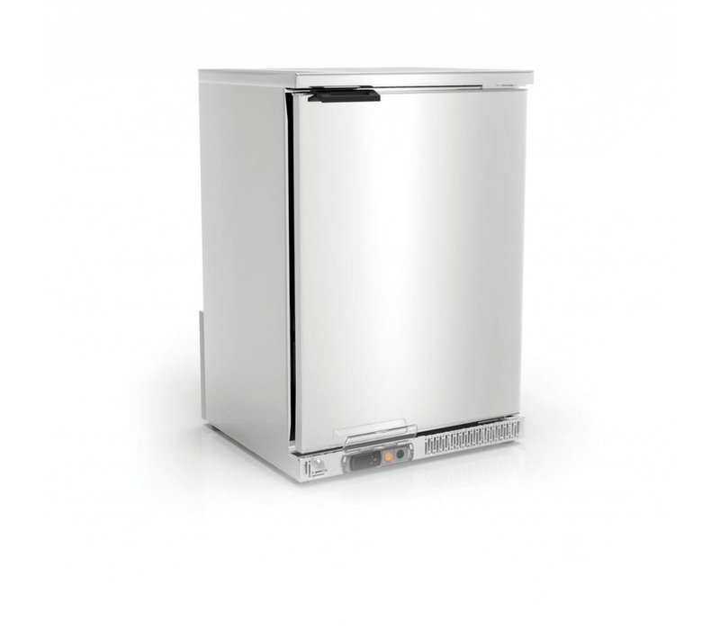 Coreco Barkoelkast RVS | 2 Verstelbare Etages | 130 Liter | 62x52x(H)90cm