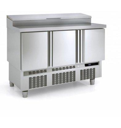 Coreco Saladette 3 Deurs | 8x 1/4GN | 136,5x70x(H)112cm