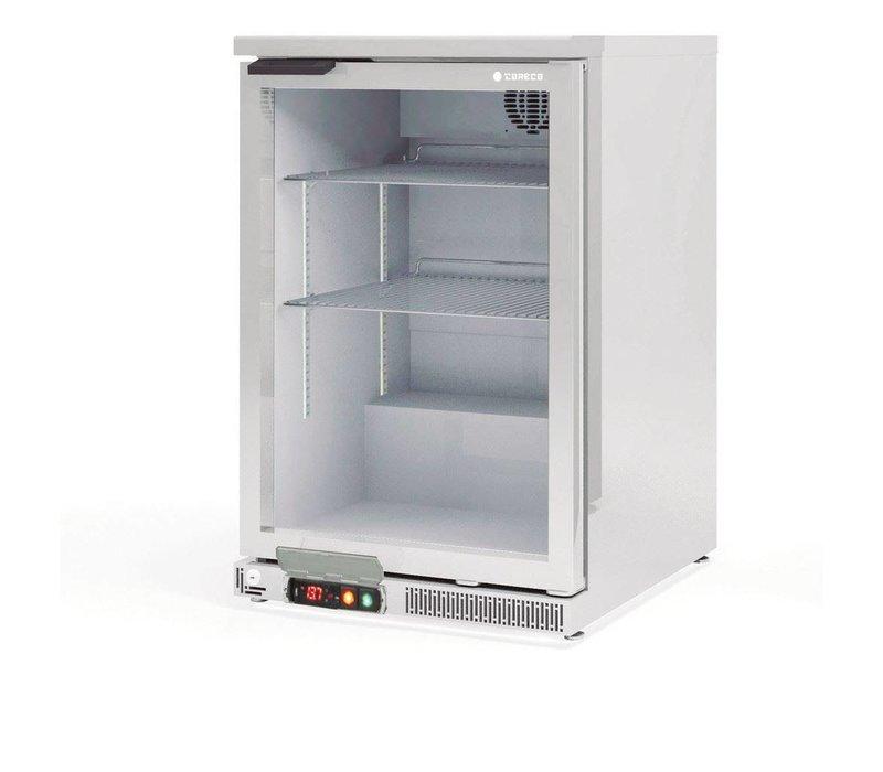 Coreco Barkoelkast RVS |  Glazen Deur  | 2 Verstelbare Etages | 130 Liter | 62x52x(H)90cm