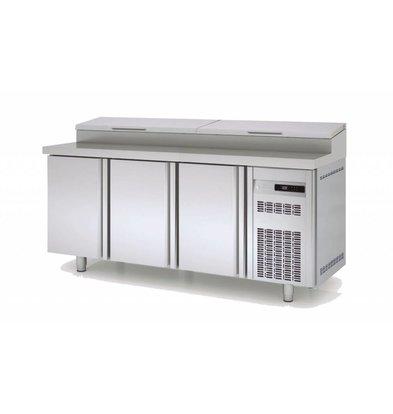 Coreco Saladette 3 Deurs | 10x 1/3GN |202x80x(H)104,3cm