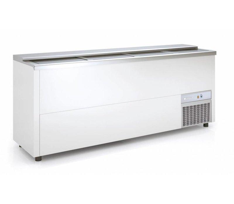 Coreco Frontbar Koelkist | Schuifdeksel | BEG200-EA | 200,5x55x(H)85cm
