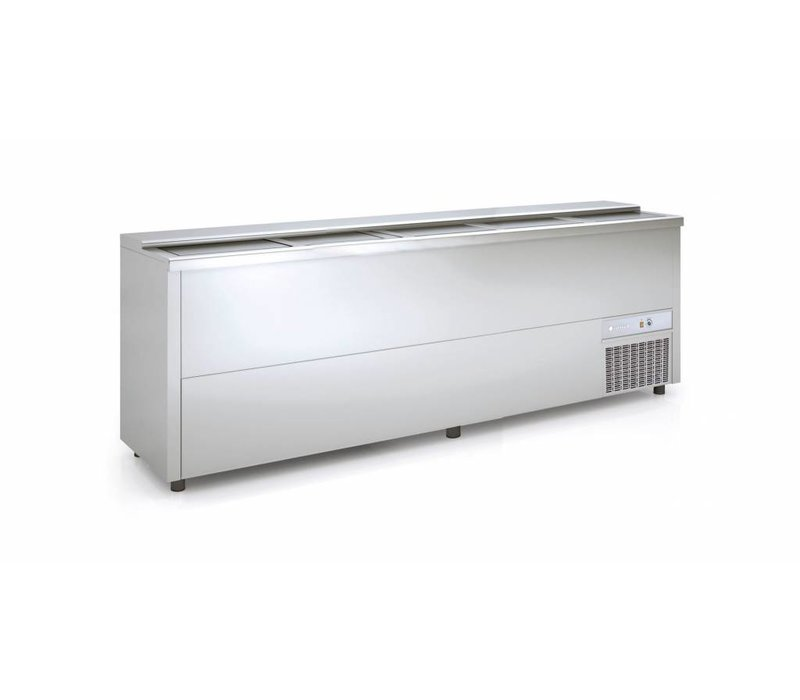 Coreco Frontbar Koelkist RVS | Schuifdeksel | BE250-I |248x55x(H)85cm