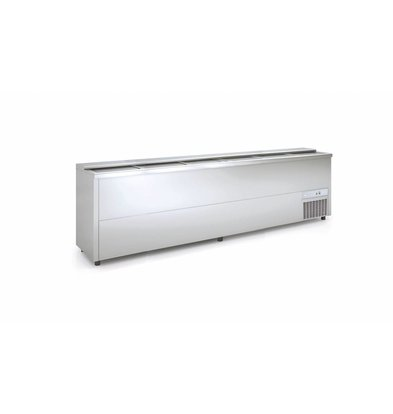 Coreco Frontbar Koelkist RVS | Schuifdeksel | BE300-I | 297x55x(H)85cm