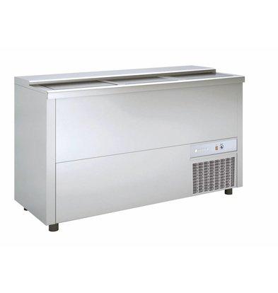 Coreco Frontbar Koelkist Aluminium | Schuifdeksel | BE150-A | 150x55x(H)85cm