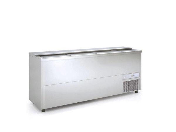 Coreco Frontbar Koelkist Aluminium | Schuifdeksel | BE250-A | 2480x55x(H)85cm