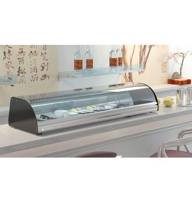 Coreco Sushi Opzetvitrine  RVS | BCS-4 | 105x41x(H)25,5cm