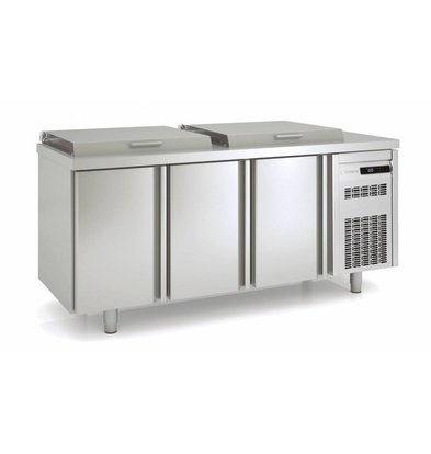 Coreco Saladette 3 Deurs | MFE-200 | Coreco | 179,5x70x(H)148,3cm