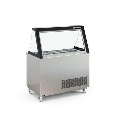 Coreco Saladette  390 Liter | met Glasopbouw | PC80-150-15-LGL | 18x 1/6GN | 122,8x77x(H)150,7cm
