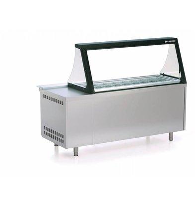 Coreco Saladette  595 Liter | met Glasopbouw | PC80-200-15-LGL | 27x 1/6GN | 179,5x70x(H)155,8cm
