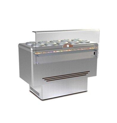 Framec Schepijsvitrine | DOLCE VITA 10 LUX | Framec | 10+10 x 7,5 Liter | 143,5x71,3x(H)103cm