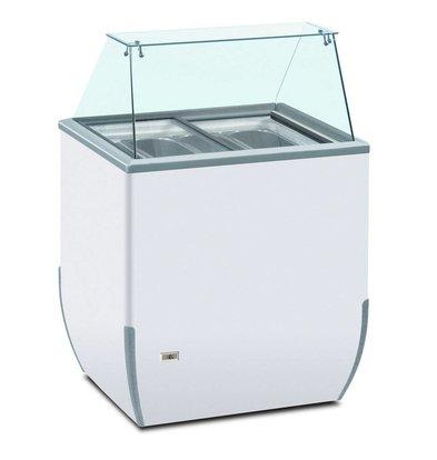 Framec Schepijsvitrine | BRIO 180 ICE 4 SK | Framec | 4x 5 Liter | 78x64x(H)1181cm