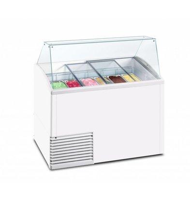 Framec Schepijsvitrine | SLANT 510 ICE | Framec | 10x 5 Liter | 134,1x72,5x(H)123,5cm