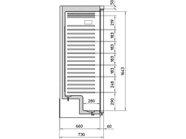 Framec Bedrijfsvrieskast | Wit | JUMBO XL 650 N | Framec | Deur Omkeerbaar | 77,5x73x(H)186,5cm