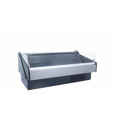 Coolselect Koeltoonbank | Laag Glas | Self Service | RVS Etaleervlak | 0°C / +4°C | 257x110x(H)88,2cm