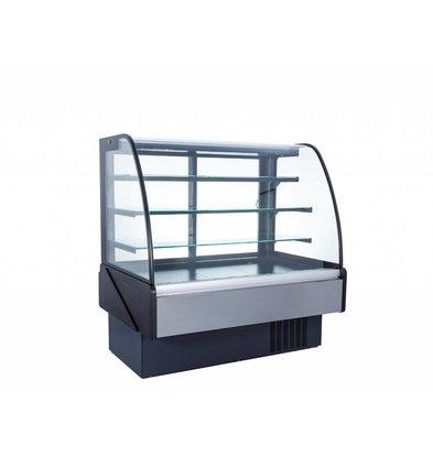 Coolselect Inbouw Koelvitrine met Schuifdeuren | Gehard Glas | LED Verlichting | +2/+5°C | 152,5x85x(H)136,7cm