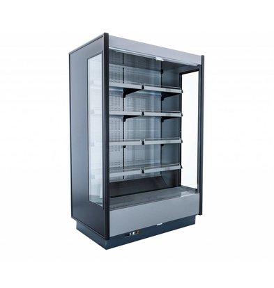 Coolselect Wandkoelmeubel | met Glazen Deuren | LED Verlichting | 0°C / +4°C | 370x80x(H)223,1cm