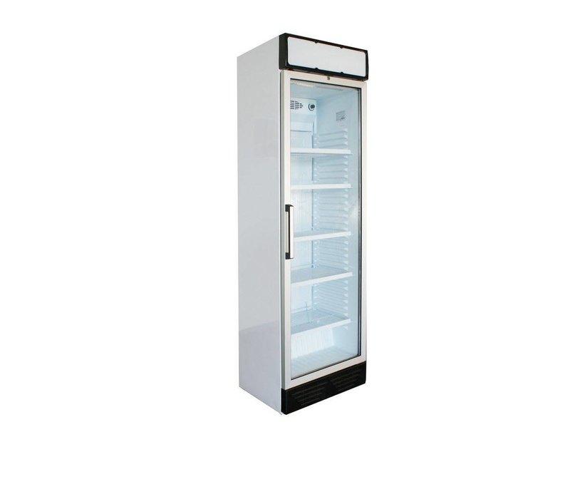Kleo Display Koelkast | Linksdraaiende Glazen Deur | LED Verlichting | Wit | 59x61x(H)201cm