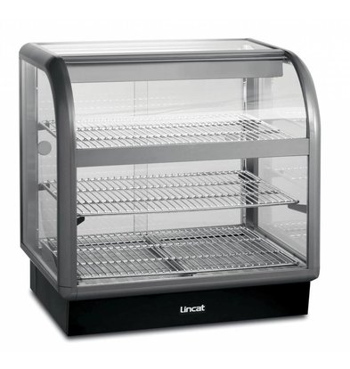 Lincat Warmhoudvitrine Curved Lincat | Gebogen Ruit | Self Service | 750x650(h)755mm