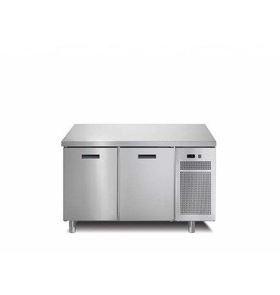 Afinox Koelwerkbank  2 Deurs | 126x70x(h)90cm | Met of Zonder Werkblad