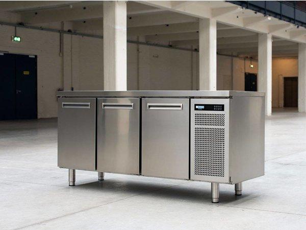 Afinox Vrieswerkbank RVS | 2 Deurs | SPRING 702 I/A BT | 130x70x(H)90cm | Met/zonder Werkblad