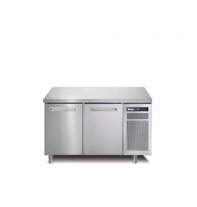 Afinox Vrieswerkbank RVS | 2 Deurs | R290 | SPRING 702 I/A BT | 130x70x(H)90cm | Met/zonder Werkblad