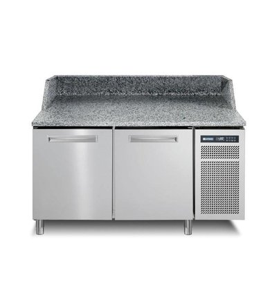 Afinox Pizzawerkbank RVS | 2 Deurs | PIZZASPRING 820 I | Afinox | 145x80x(H)104cm