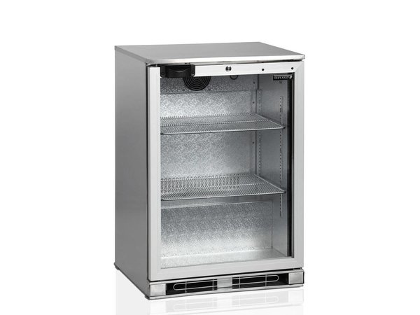 Esta Backbar Koelkast RVS | Glazen Draaideur | BA15H R600a | Esta | 60x52x(H)87cm