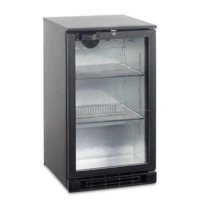 Esta Backbar Koelkast Zwart | Glazen Draaideur | BA5H R600a | Esta | 50x52x(H)87cm