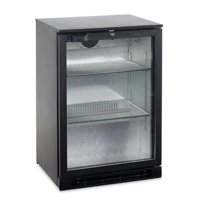 Esta Backbar Koelkast Zwart | Glazen Draaideur | BA10H R600a | Esta | 60x52x(H)90cm