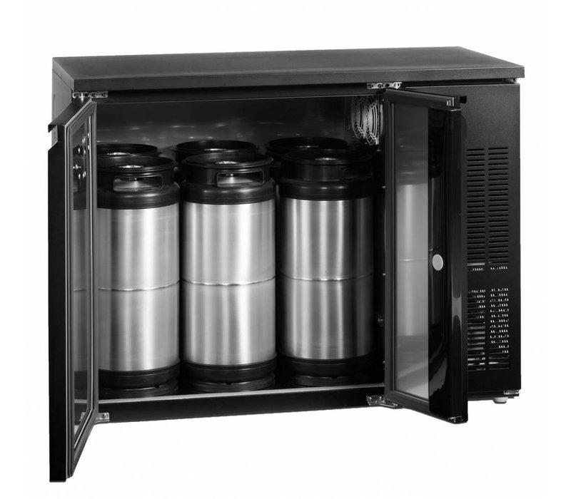 Esta Fustenkoeler Zwart | Voor 6x 20 Liter Vaten | CKC4 | Esta |111x59x(H)86cm