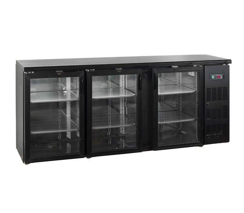 Esta Barkoelkast 3 Glazen Klapdeuren | CBC310G | Esta | 200,2x51,3x(H)86cm