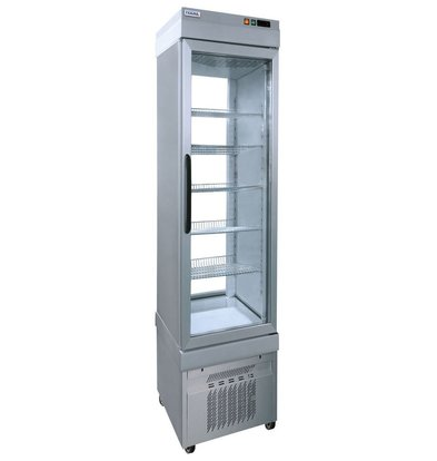 Tekna Line Display Vrieskast Aluminium | 5 Roosters  | +5°/-25°C | 46x64x(H)193cm