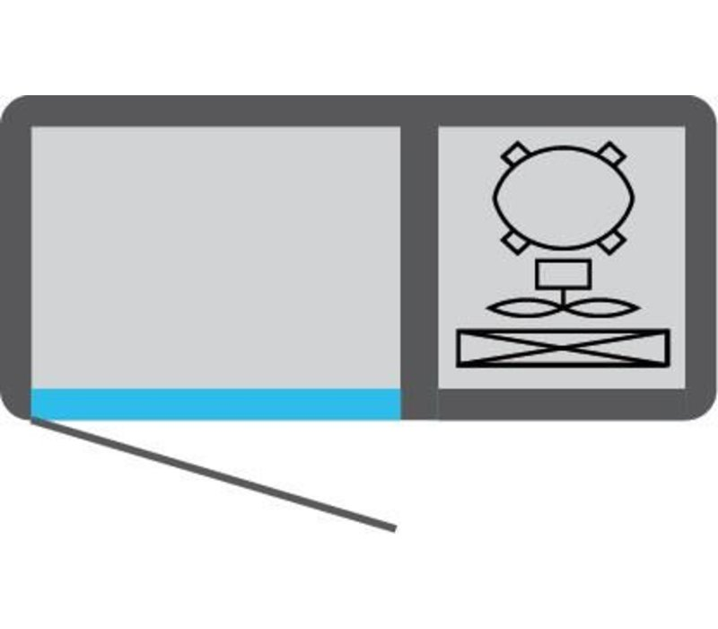 Tekna Line Gebaksvitrine  Barcounter | RVS | 2 Glazen Deuren | +10°/-5°C | 111x55x(H)88,5cm