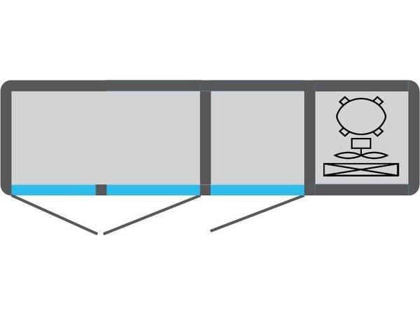 Tekna Line Barcounter | Wit | 3 Glazen Deuren | +10°/-5°;+5°/-25°C  | 178x55x(H)88,5cm