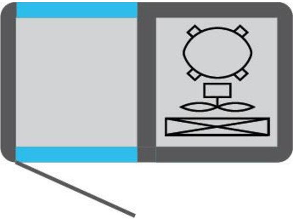Tekna Line Diepvries Barcounter | Voor en Achterzijde glas | Wit | 2 Glazen Deuren | +5°/-25°C | 90x55x(H)88,5cm