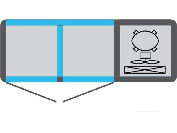 Tekna Line Barcounter | Voor en Achterzijde glas | RVS | 2 Glazen Deuren | +10°/-5°;+5°/-25°C | 134x55x(H)88,5cm