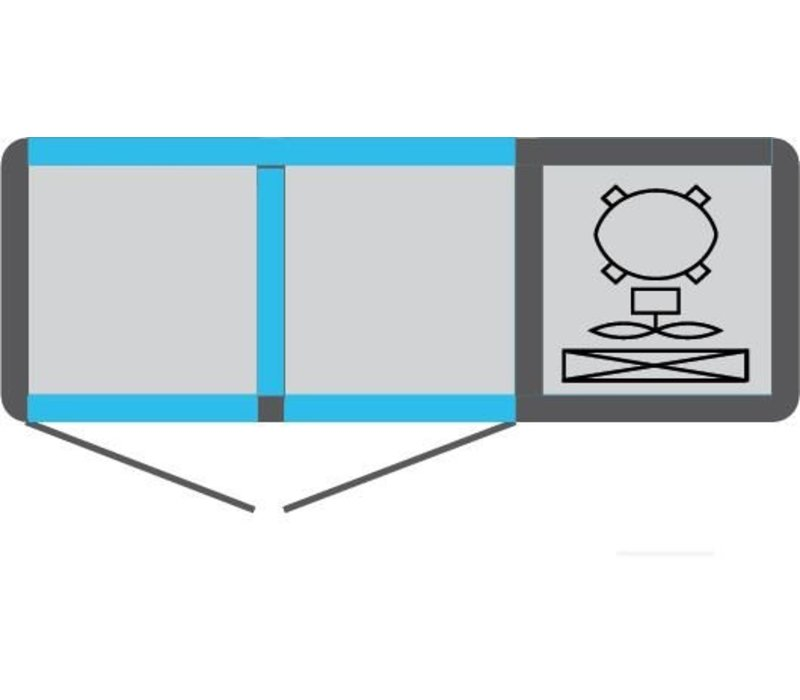 Tekna Line Barcounter | Voor en Achterzijde glas | Wit | 2 Glazen Deuren | +10°/-5°;+5°/-25°C | 134x55x(H)88,5cm